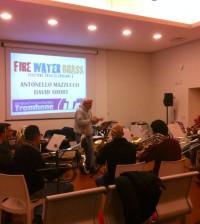 David Short prova con il Brass Ensemble