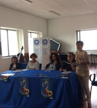 Da sin. SILVANA NOSCHESE, Francesca Turano, Imma Battista, Francesco D'Errico