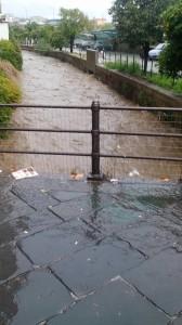 via Vico, ponte che porta al passaggio a livello delle FFSS