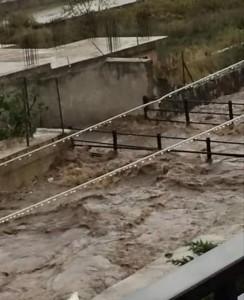 torrente Solofrana in piena
