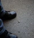 Piazza Guerritore, uno dei bossoli ritrovati/Foto Peppe Bove
