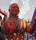 Jazz singer Dee Dee Bridgewater performs during the Nice Jazz Festival