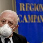 Il presidente della Regione Campania Vincenzo De Luca,  in una immagine del 24 giugno 2020 ANSA / CIRO FUSCO