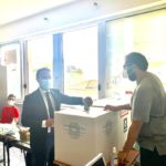 Il deputato dem Piero De Luca vota al Da Procida